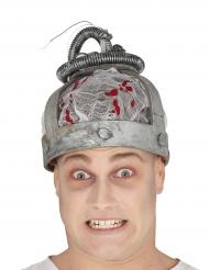 Elektrischer Stuhl-Kopfbedeckung grau-rot Halloween