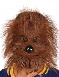 Werwolf-Maske Kostümzubehör für Halloween braun