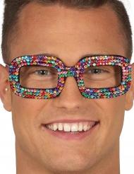 Popstar Brille für Erwachsene Strass