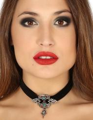 Barocke Halskette für Erwachsene schwarz türkis