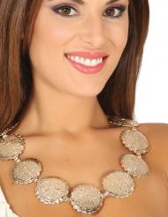 Römische Halskette Medaillon mit Taler Damenschmuck gold