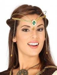 Königliches Diadem für Damen gold-grün