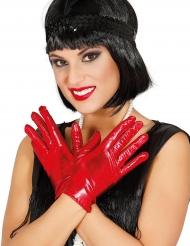 Kurze Handschuhe für Damen rot