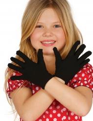 Kurze schwarze Handschuhe für Kinder