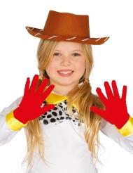 Kurze Handschuhe für Kinder rot