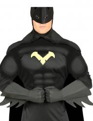 Superhelden Handschuhe für Erwachsene schwarz