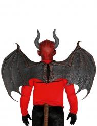 Teuflische Flügel Halloween-Kostümzubehör braun-rot 10 x 80cm