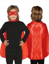 Superhelden Umhang für Kinder rot 55 cm