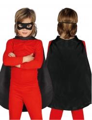 Superhelden Umhang für Kinder schwarz 55 cm
