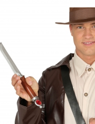 Antikes Messer 34 cm braun-silberfarben