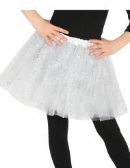 Glitzer Tüllrock für Mädchen weiss