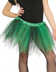 Grüner Tüllrock mit Glitzer für Damen