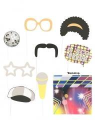 Photobooth Set Disco 9 Teile
