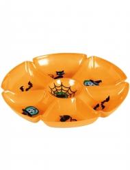 Servierbrett aus Kunststoff Halloween-Tischzubehör orange 29cm