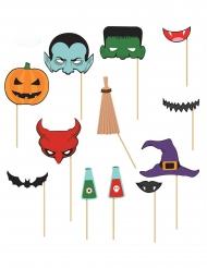 Halloween Photobooth Set 12 teilig