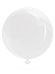 Weißer lichtdurchlässiger Ballon