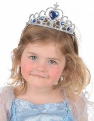 Königliches Diadem für Mädchen silber-blau