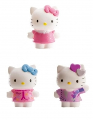 3 Hello Kitty Katzen Figuren 7 cm