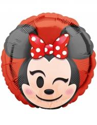Aluminium-Ballon Minnie Mouse™ Emoji™ 43 cm