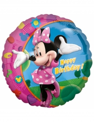 Aluminium-Ballon Happy Birthday Minnie™ 43 cm