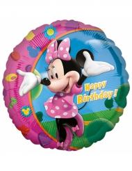 Aluminium-Ballon Happy Birthday Minnie™ 43 cm