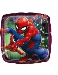Aluminium-Ballon quadratisch Spiderman™ 43 cm
