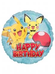 Aluminium-Ballon Happy Birthday Pokémon™ 43 cm