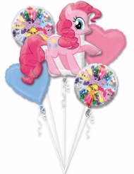 5 Aluminium-Ballons My Little Pony™ bunt