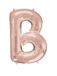 Aluminium-Ballon Buchstabe B roségold 58 x 86 cm