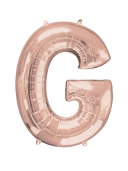 Aluminium-Ballon Buchstabe G roségold 63 x 81 cm