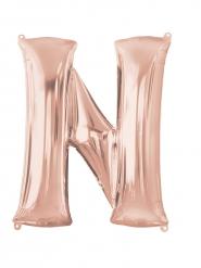 Aluminium-Ballon Buchstabe N roségold 60 x 81 cm