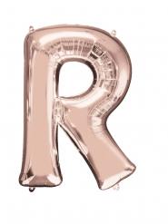 Aluminiumballon Buchstabe R Rosegold 58 x 81 cm