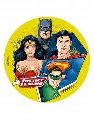Kuchenplatte aus Zucker Justice League™ 16 cm