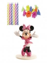 Torten Dekolrations-Set Geburtstagskerzen Minnie