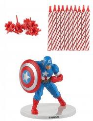 Captain America Geburtstagskerzenset