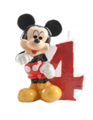 Kuchendeko Zahl 4 Mickey™ 6.5 cm
