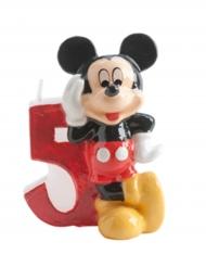 Attraktive Kerze mit der Ziffer 5 Mickey