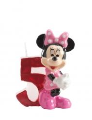 Geburtstagskerze Zahl 5 Minnie