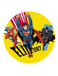 Justice League™ Kuchenplatte aus Zucker 20 cm
