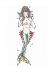 Meerjungfrauen Tattoo zum Abziehen