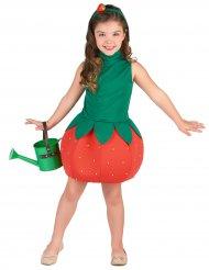 Erbeerkostüm für Mädchen rot-grün