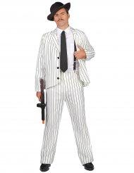 Weisses Gangster Kostüm für Herren