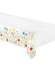 Sternchen Plastiktischdecke 130 x 180 cm