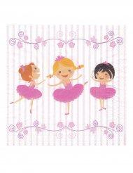 20 Ballerina-Servietten 33x33 cm