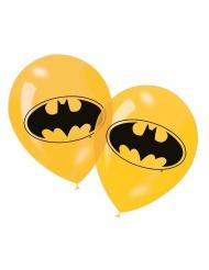 6 gelbe Latexballons Batman