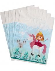 6 Prinzessin Geschenkebeutel 15 x 23 cm