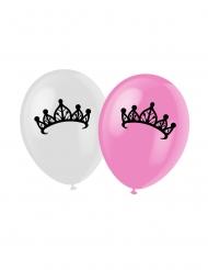 Set aus 6 Luftballons mit Prinzessin und Schloss