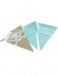 Piraten Girlande für Seeräuber Kindergeburtstag beige-blau 270 cm
