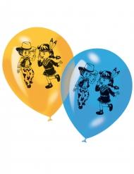 6 Luftballons Cowboy- und Indianeraufdruck