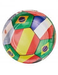 6 Pappteller Fußball 23cm
